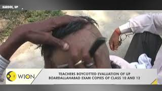 UP: Unpaid teachers shaved heads to stage protest