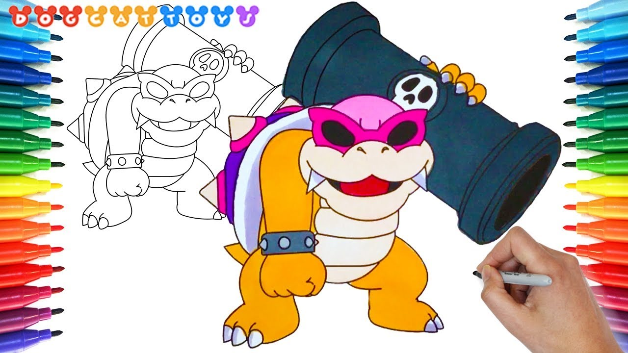 How To Draw Super Mario Bros Coloring Pages Roy Koopa