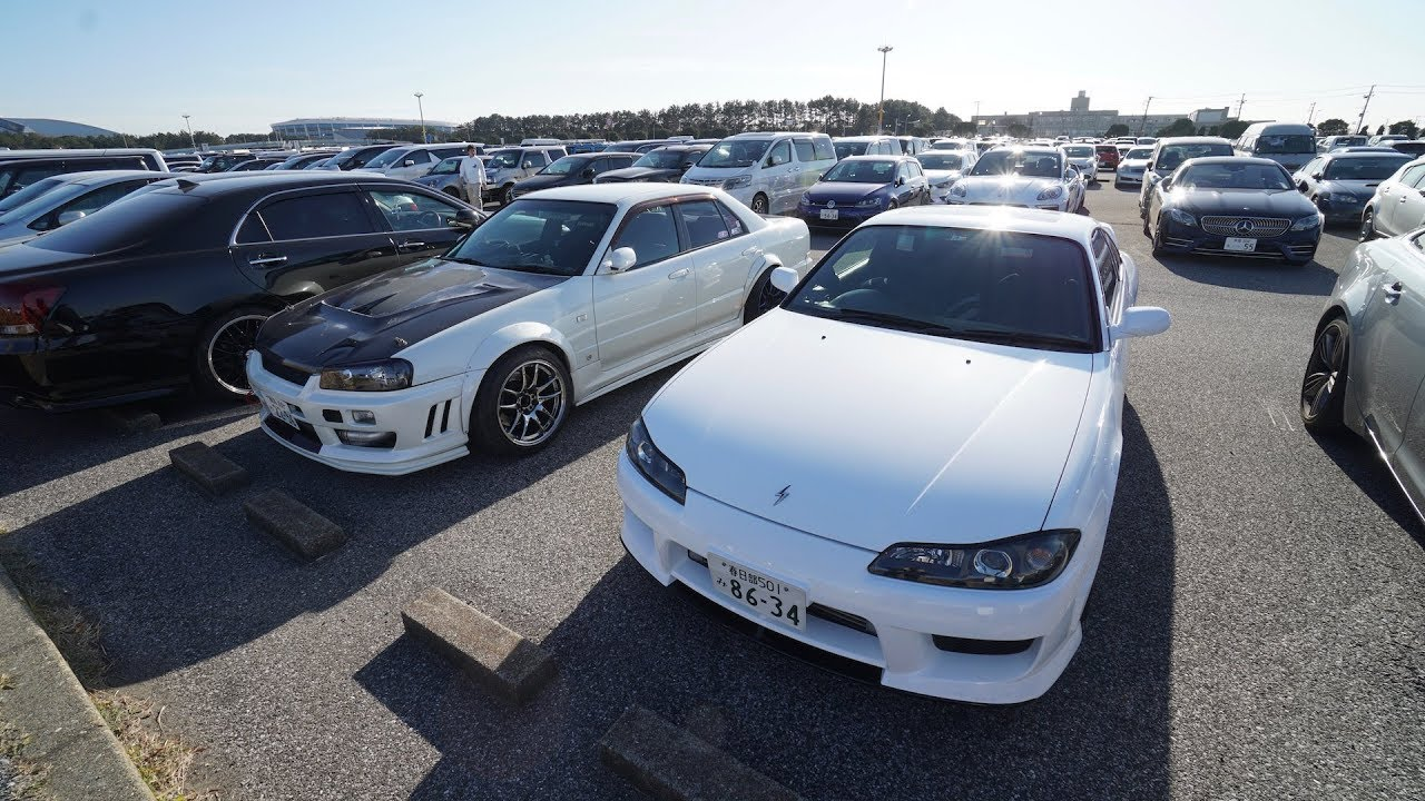 hunting-jdm-cars-tokyo-auto-salon-parking-lot