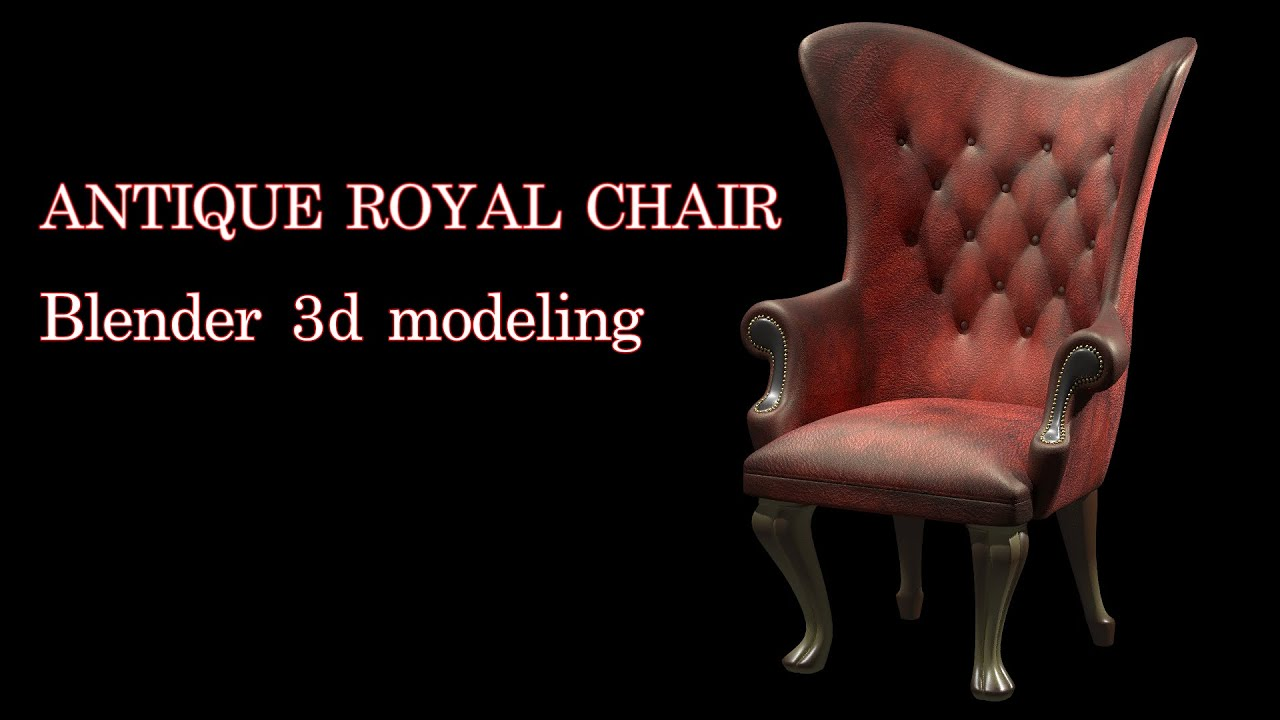 Antique Royal Club Chair 3d modeling