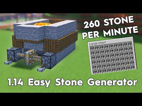 Minecraft Easy Stone Generator! 260 Stone Per Minute! 1.16/1.15