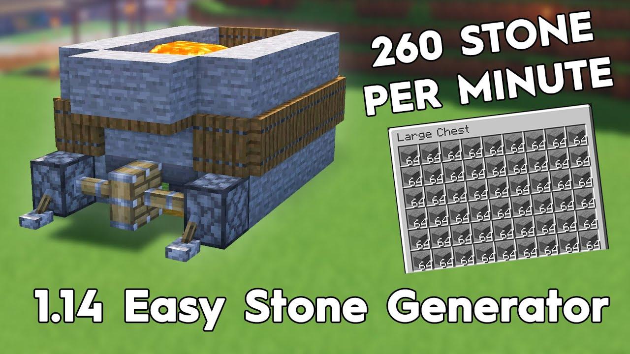 Download Minecraft Easy Stone Generator! 260 Stone Per Minute! 1.16/1.15