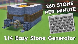 Minecraft Easy Stone Generator! 260 St๐ne Per Minute! 1.16/1.15