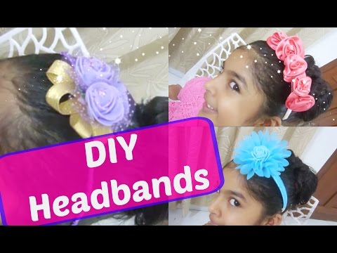 DIY headbands | Recycling unused hairbands and headbands | Make your own headbands at home