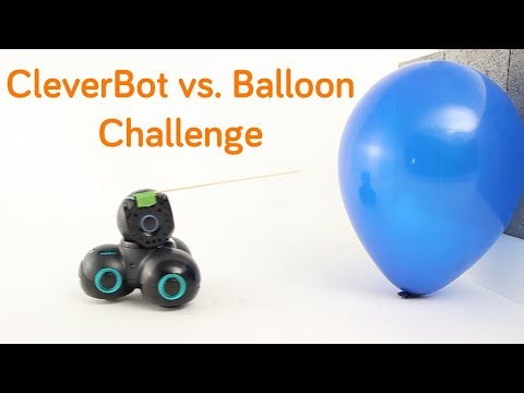 CUE The CleverBot Vs. Balloon Pop Challenge | Wonder Workshop