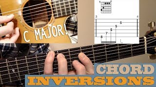 c major chord inversions | beginner/intermediate guitar lesson with tab