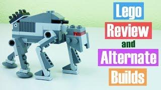 LEGO Star Wars First Order Assault Walker polybag build review alternate builds   Victor Loves Toys!