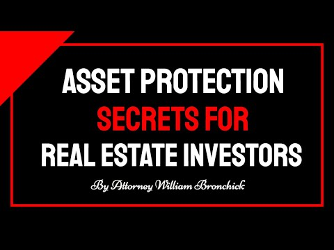 Asset Protection for Real Estate Investors - The Quick & Dirty Version