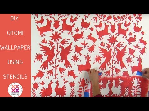 Amazing Otomi Ethnic Stencil Pattern For Accent Walls
