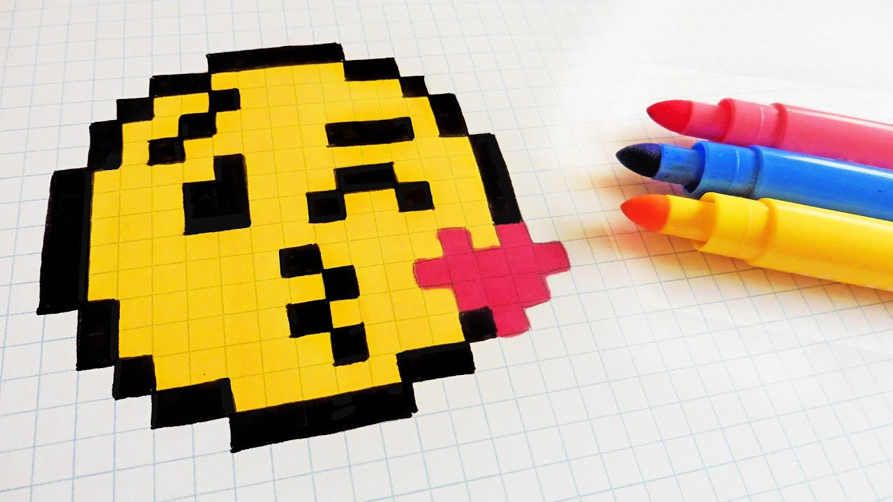 Handmade Pixel Art How To Draw A Emoji Pixelart