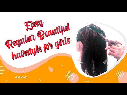 Easy Regular Beautiful Hairstyle for Girls | Easy Everyday Girls Hairstyle |  Simple Bun