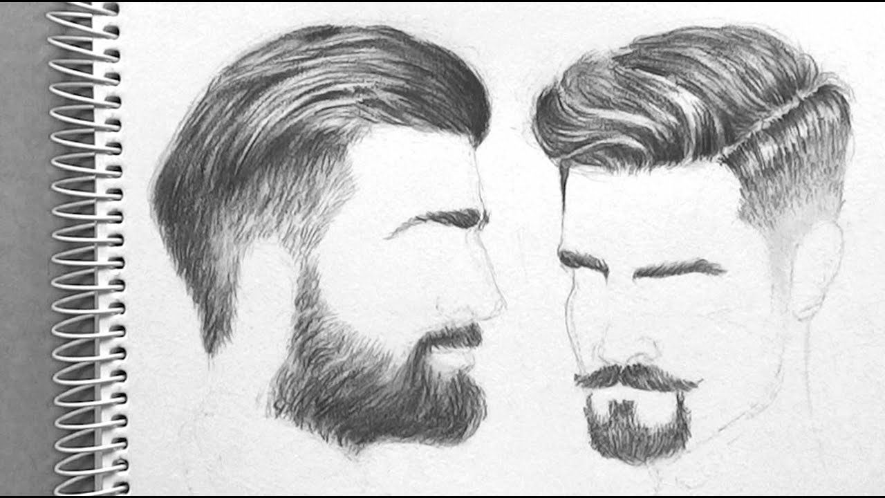 ep05 drawing men s hair realistic appeal time lapse youtube