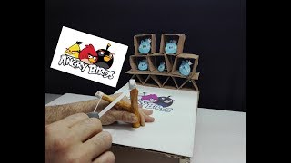 How to Make Real Life Angry Birds Gameplay from Cardboard/ DIY 2018