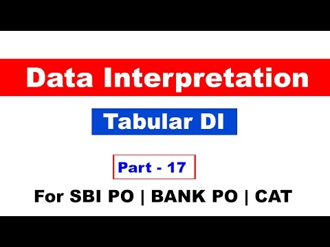 Data Interpretation Part 17 By Study Smart for SBI PO,BANK PO,CAT