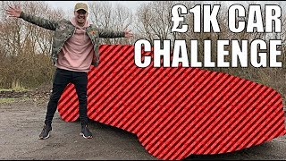 Buying a car for £1,000!! #1kCarChallenge