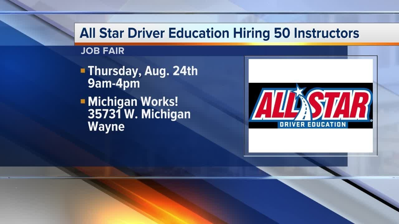 All Star Driver Education >> 50 Driver Education Instructors Being Recruited At A Job Fair In Wayne On August 24 2017