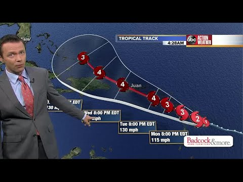 Hurricane Maria heads toward the Caribbean islands