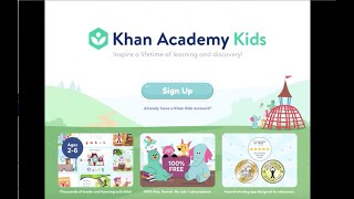 Khan academy kids is an award-winning educational app for young learners ages two to seven. watch this video learn how set up account your child...
