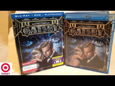 The Great Gatsby Target Exclusive Blu-ray/DVD Unboxing - (2013) - Leonardo DiCaprio