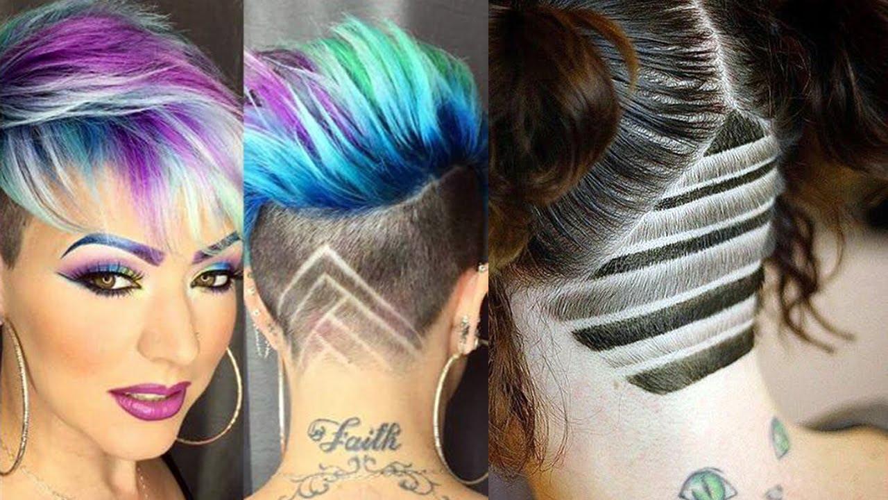 hair tattoo girls 2018 - undercut