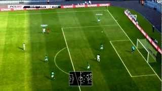Pro Evolution Soccer 2013. - XBOX 360 DEMO GAMEPLAY.