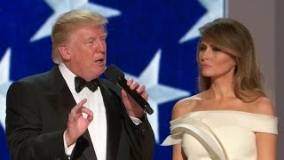 President Donald Trump speaks at the Liberty Ball