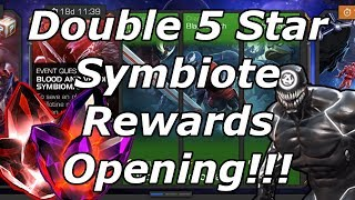 Double 5 Star Symbiote Event Quest Crystal Opening!!! Marvel Contest of Champions