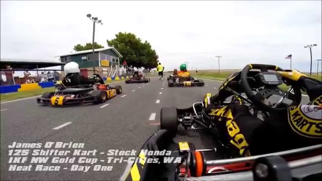 2014 IKF NW Gold Cup Series @ Tri Cities, WA   125 Shifter Kart Racing ,  Stock Honda