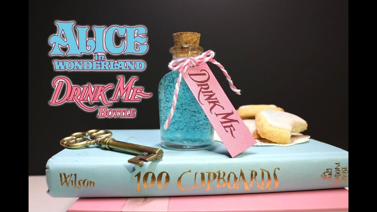 Drink Me Potion Bottle Diy Prop Bottle Alice In Wonderland