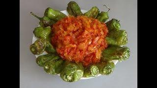 Гагаузская кухня. Жареные перцы с подливой (Жареные перцы в мандже)