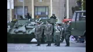 DDR Tag der Republik Ehrenparade 7 Oktober 1988,  Berlin