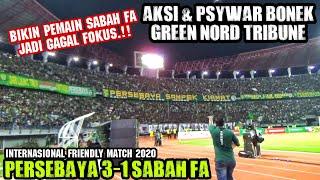 Download lagu Aksi Bonek Green nord yang membuat Pemain Sabah FA jadi Gagal Fokus
