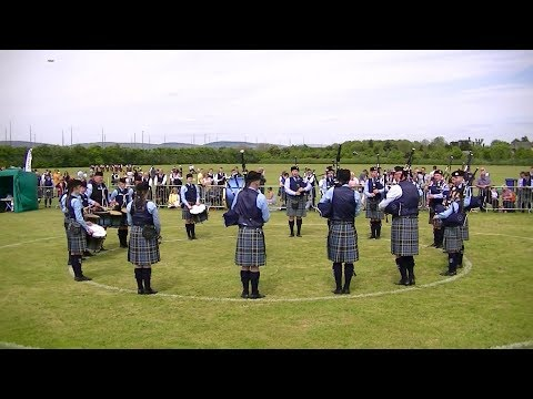 ROSS AND CROMARTY PIPES AND DRUMS SCHOOL AT THE BRITISH PIPE BAND CHAMPIONSHIPS 2018