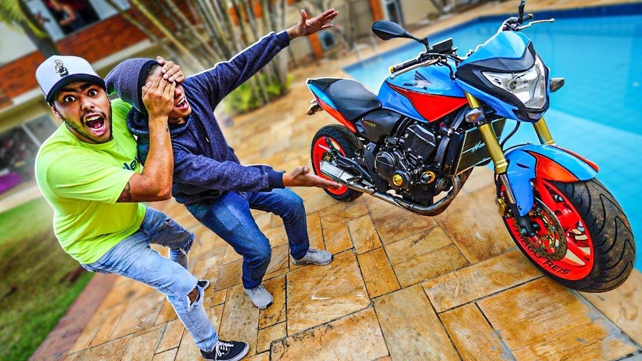 NÃO TEVE JEITO A HORNET FOI EM BORA * esse é o novo comprador da minha moto *