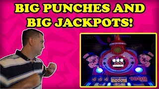 BOOM! I Punch An Arcade Game after a BIG JACKPOT! We play a SWEET Grab N Win Claw Machine! TeamCC