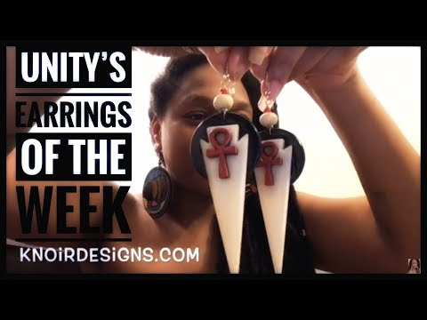 Unity's Earrings of the Week (One of a Kind Pairs) Afrocentric Wearable Art