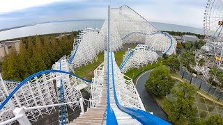 "Riding ""Hakugei"" Roller Coaster Multi Angle 4K Onride POV Nagashima Spaland Japan"