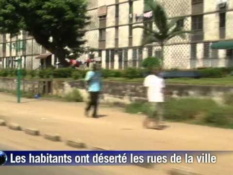 Abidjan: tension palpable et rues désertes