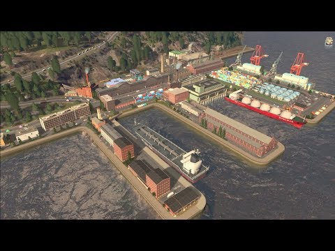 How to build a PORT | Cities Skylines | Ep 18