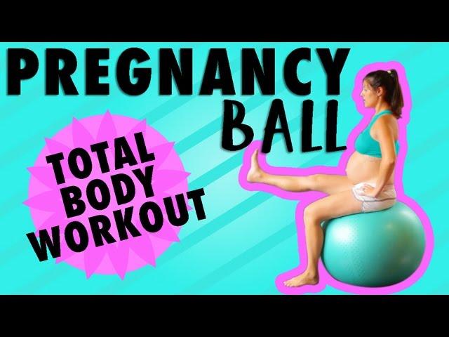 Exercise Ball Workout Pregnancy Workout Third Trimester Youtube