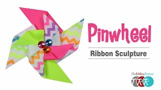 How to Make a Pinwheel Ribbon Sculpture - TheRibbonRetreat.com