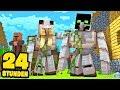 24 STUNDEN als IRONGOLEM     Minecraft