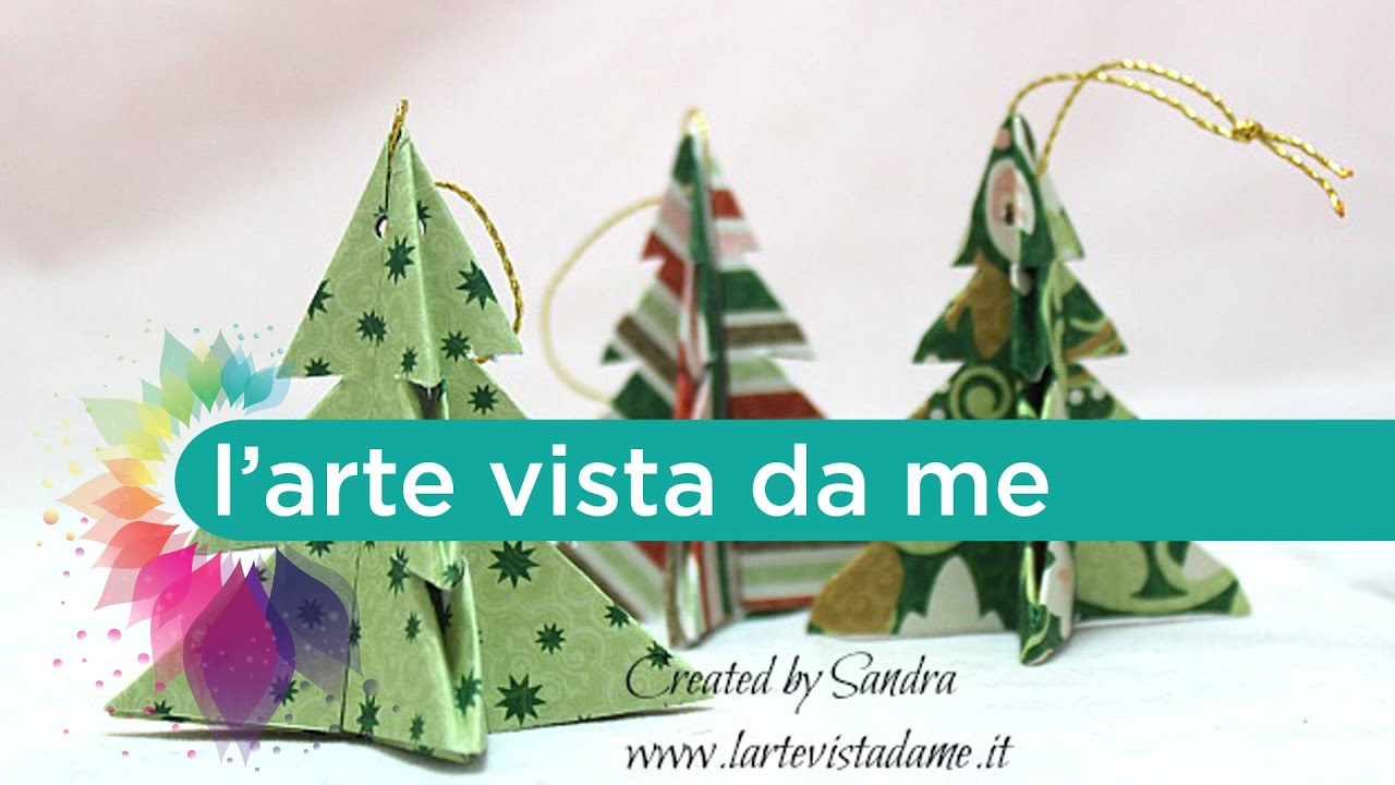 Centrotavola Natalizi Fai Da Te Youtube.Origami Christmas Tree Alberelli Origami Albero Di Natale Origami