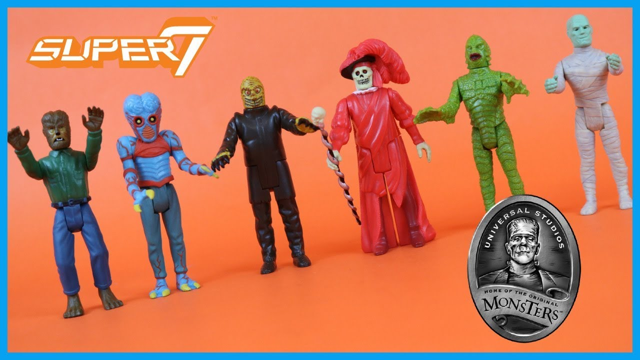 Super7 Reaction Figures Universal Monsters Wave 1 Mummy Wolfman More Action Figure Toy Review