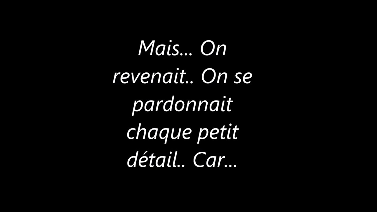 Texte D Amour Triste Youtube