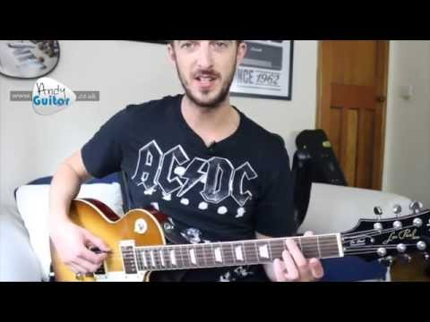 AC/DC - Dirty Deeds Done Dirt Cheap - EASY Guitar Lesson Tutorial - Easy Riff Lesson #11