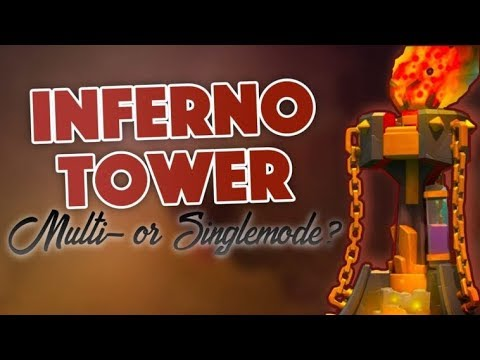 Clash of Clans - SINGLE VS MULTI INFERNO TOWER UPDATED STRATEGY!