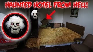 THE HAUNTED HOTEL FROM HELL! They left everything behind! (Scary)