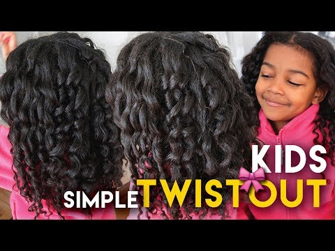 FUSSY KIDS DRAMA FREE Natural Hairstyle - My QUICK PAINLESS Holiday Twist Out Method