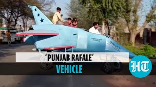 Watch: Architect builds 'jet-shaped' vehicle, names it 'Punjab Rafale'